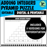 Adding Integers Pyramid   Distance Learning