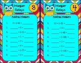 Adding Integers Relay