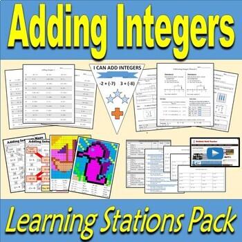 Adding Integers Resource Pack