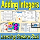 Adding Integers Learning Station - Resource Pack