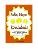 """Common Core Math Stations and Games - """"Roundabouts"""" Adding Integers"""