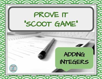 Adding Integers Scoot Game