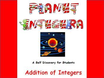 Adding  Integers Self Discovery ~ Planet Integera
