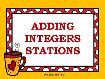 Adding Integers Stations