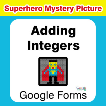 Adding Integers - Superhero Mystery Picture - Google Forms