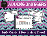 Adding Integers Task Cards