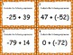 Adding Integers Task Cards Level 2 (-100 to 100)