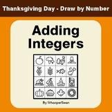 Thanksgiving Math: Adding Integers - Math & Art - Draw by Number