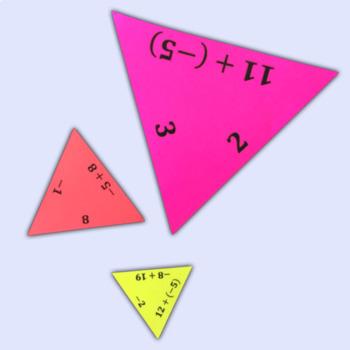 Adding Integers Triangle Puzzle
