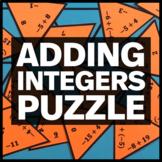 7.NS.A.1 Adding Integers Puzzle - Fun Math Activity