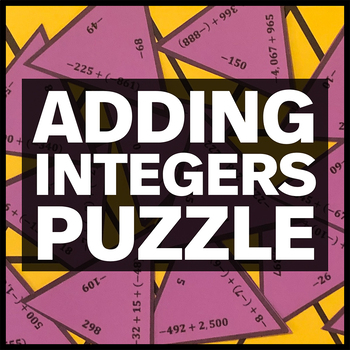 Adding Integers Triangle Puzzle #4