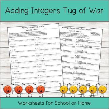 Adding Integers Tug of War (Integer Chips)
