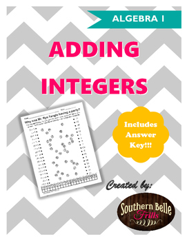 Adding Integers Worksheet