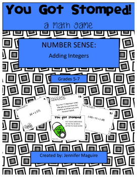 Adding Integers - You Got Stomped Math Game
