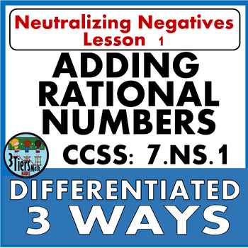 7.NS.1 Adding Rational Numbers - Negatives Integer Decimal Fraction Word Problem