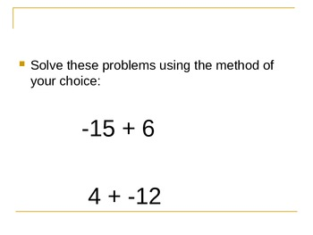 Adding Integers by Mr. Swaner
