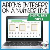 Adding Integers on a Number Line (Digital Task Cards)