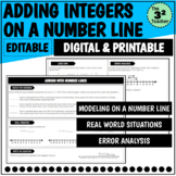 Adding Integers on a Number Line   Distance Learning