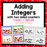 Adding Integers with 2 Sided Counters Task Cards