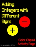 Adding Integers with Different Signs Freebie