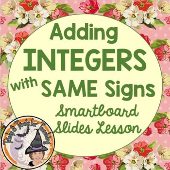 Adding Integers with SAME signs Counters and Number Lines