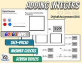 Adding Integers with Same Signs - Digital Assignment