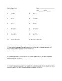 Adding Integers with Word Problems English and Spanish