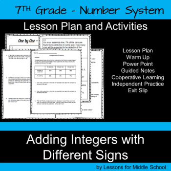 Adding Integers with a Different Sign – 7th Grade Number System