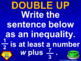 (7th) Quiz Show Game Inequalities in a PowerPoint Presentation
