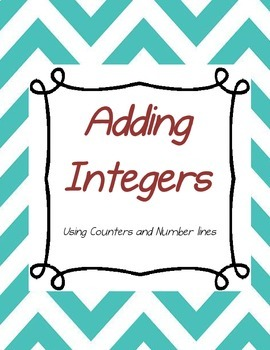 Adding Integers (with counter models and number lines)