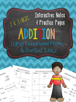 Addition Partial Sums Notes and Practice