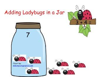 Adding Ladybugs in a Jar