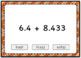 Adding Large Decimals Computation Boom Card Deck - Set 1 (Multiple Choice)