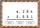 Adding Large Decimals Computation Boom Card Deck - Set 2 - Multiple Choice