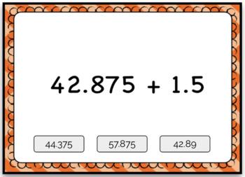 Adding Large Decimals Computation & Word Problem Boom Card Deck Bundle