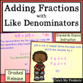 Adding Fractions with Like Denominators for PROMETHEAN Board