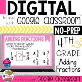 Adding Like Fractions Digital Task Cards for Google Classroom