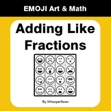 Adding Like Fractions - Emoji Art & Math - Draw by Number | Coloring Pages