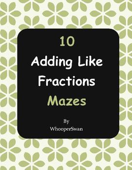Adding Like Fractions Maze