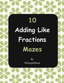 Adding Like Fractions Maze