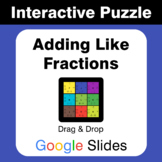 Adding Like Fractions - Puzzles with GOOGLE Slides