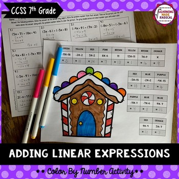 Adding Linear Expressions Color By Number Activity