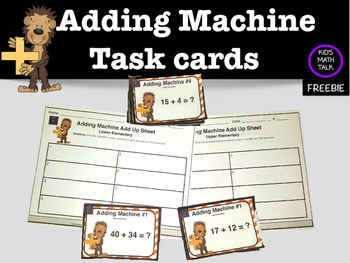 Adding Machine Task Cards