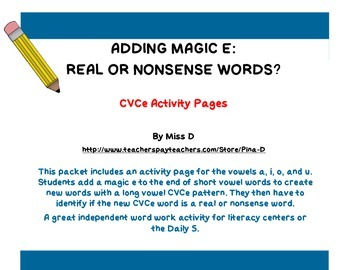 Adding Magic E: CVCe Words