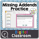 Adding Missing Addends Unknown Numbers Google Slides Class