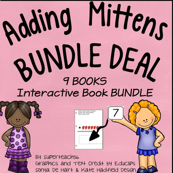 Count and Add Fact Families BUNDLE (Mitten Fact Families 2-10)