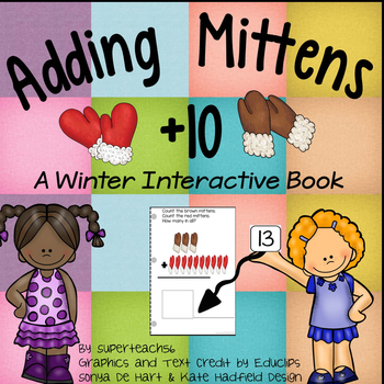 Adding Mittens Count, Add and Learn by 10's WINTER EDITION
