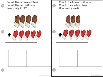 Adding Mittens Count, Add and Learn by 5's, 6s, 7s BUNDLE