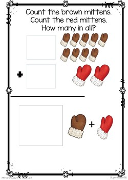 Count and Add Fact Families (Mitten Fact Family 2)