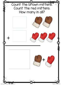 Count and Add Fact Families (Mitten Fact Family 3)